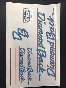 Details about Diamondback COOL Streak Decals Sticker Set Suit Your Old  School BMX Blue