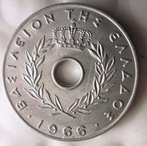 1966 GREECE 20 LEPTA FREE SHIPPING Excellent AU//UNC Coin Greece Bin #1