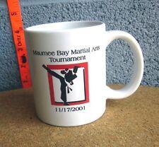 MARTIAL ARTS TOURNAMENT coffee mug Maumee Bay tae kwon do 2001 Toneff's