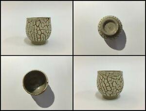 Japanese-Pottery-Sake-Cup-Guinomi-Vintage-Simple-Pattern-Liquor-Yakimono-Z054
