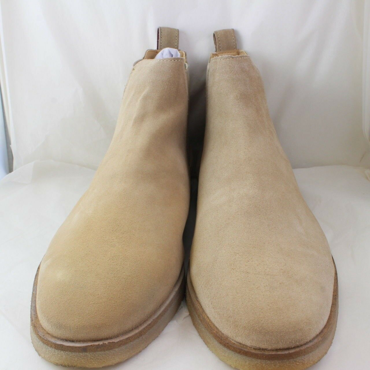 A Genuine Men's WALK LONDON Beige Suede Pull On Ankle Boots Size UK 10
