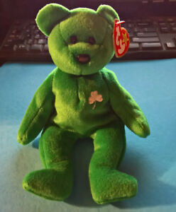 10d3b66aab8 TY Beanie Baby - Erin the St. Patrick s Day Bear - 1997 Retired ...