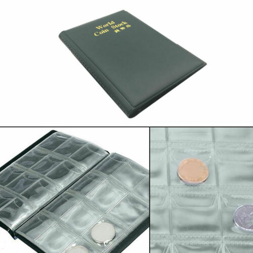 New Collecting 120 Pockets World Coin Collection Storage Holder Money Albu PRC