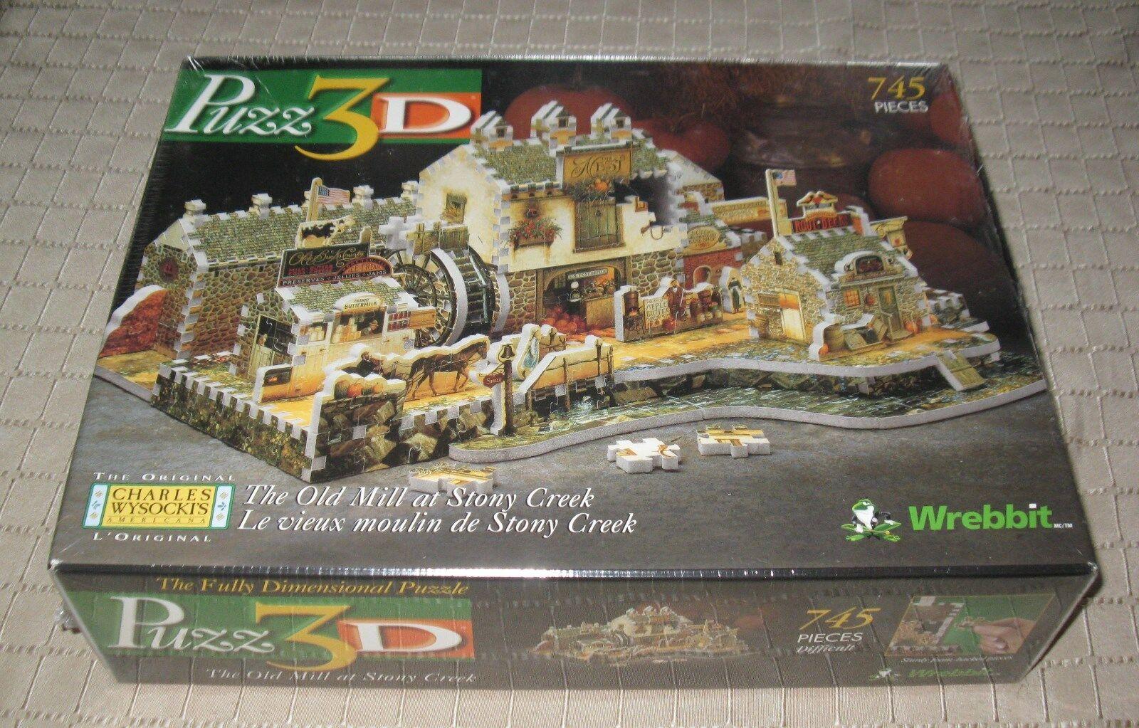 Wrebbit 3d - puzzle der alten mhle in stony creek 745   1998 mb freien versand.