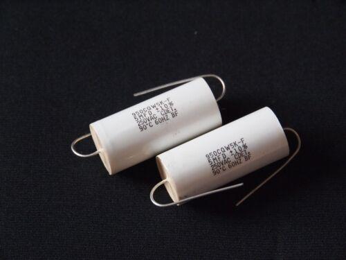Cornell Dubilier 5uF 250V AC //-10/% capacitor 1pr good for audo coupling !