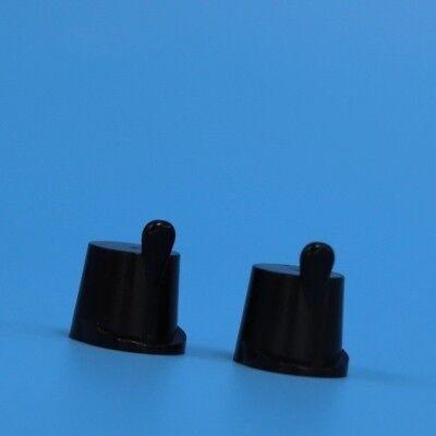2 x Lego black caps for minifigures – 362426 Parts /& Pieces hats