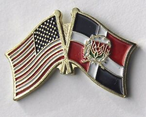 Exceptional Image Is Loading DOMINICAN REPUBLIC INTERNATIONAL COUNTRY USA COMBO FLAG  LAPEL