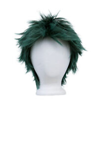 5/'/' Spiky Fluffy Short Cut with No Bangs Natural Black Cosplay Wig NEW