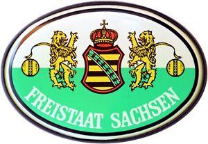 Freistaat-Sachsen-Schild-Relief-Emblem-HR-Art-15856-Kristalldekor-Aufkleber