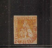 1852 ITALY TUSCANY SA# 2e 1s ARANCIO GREY PAPER CV $3500.00