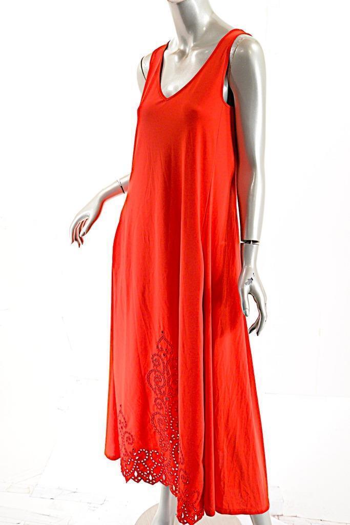 CREA CONCEPT Papaya 100% Viscose Jersey Asymmetric Hem Tunic Dress - 40 S - NWT