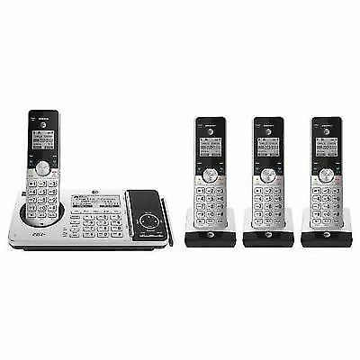 at t cordless telephone set answering system connect to cell 4 handsets ebay. Black Bedroom Furniture Sets. Home Design Ideas