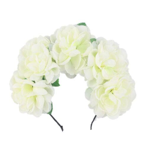 Garland Rose Bridal Flower Festival Crown Headband Hairband Floral Hair JO