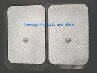 Xl Wide Replacement Electrode Massage Pads(8) (9x6cm) Ismart Relief Compatible