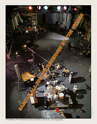 THE BEATLES AMAZING 11 BY 14 LET IT BE TWICKENGHAM FILM STUDIO HIGH END PHOTO