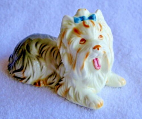 "Vintage ""Andrea by Sadek"" Collectible Bone China ""Yorkie"" Dog Figurine ""Rare"""