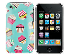 Hülle f Apple iPhone 3GS 3 3G Schutz Tasche Case Cover Etui Handy Cupcake Muffin