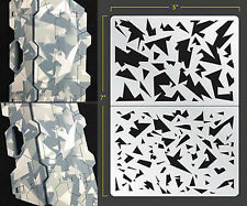 SHARD CAMO VINYL SELF ADHESIVE AIRBRUSH STENCIL WARGAMING FALLOUT HOBBIES