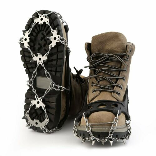 OUTAD TPR Winter Hiking Ice Climbing Crampons Snow Chains For Shoes Anti-slip