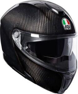 Casco-modulare-moto-Agv-Sport-Modular-glossy-Carbon-carbonio-lucido-leggero