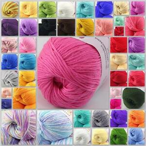 Sale-New-1Ball-x50g-Cashmere-Silk-Wool-Colorful-Children-Hand-knitting-Baby-Yarn