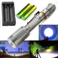 Tactical Police CREE XM-L T6 LED 5Modes Flashlight Torch Lamp Aluminum Alloy USA