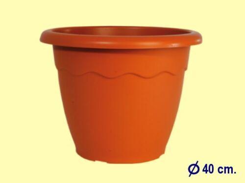 Vaso fioriera in plastica diam.cm 40  tondo terracotta fiori piante 4 Pz