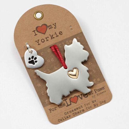 Yorkshire Terrier Ornament /& Dog Charm Set