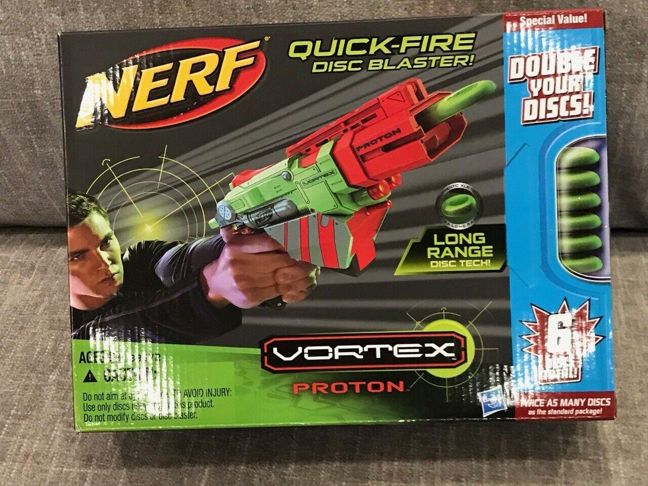 Nerf Vortex Prossoon Quick-Fuego Disco Blaster Nuevo Sellado Hasbro 2011