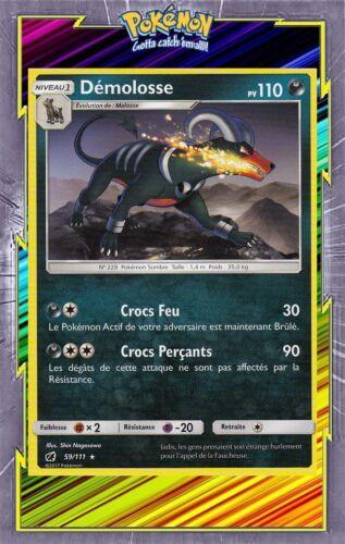 Dardargnan reverse-sl04 carmine invasion French designer card pokemon 3//111