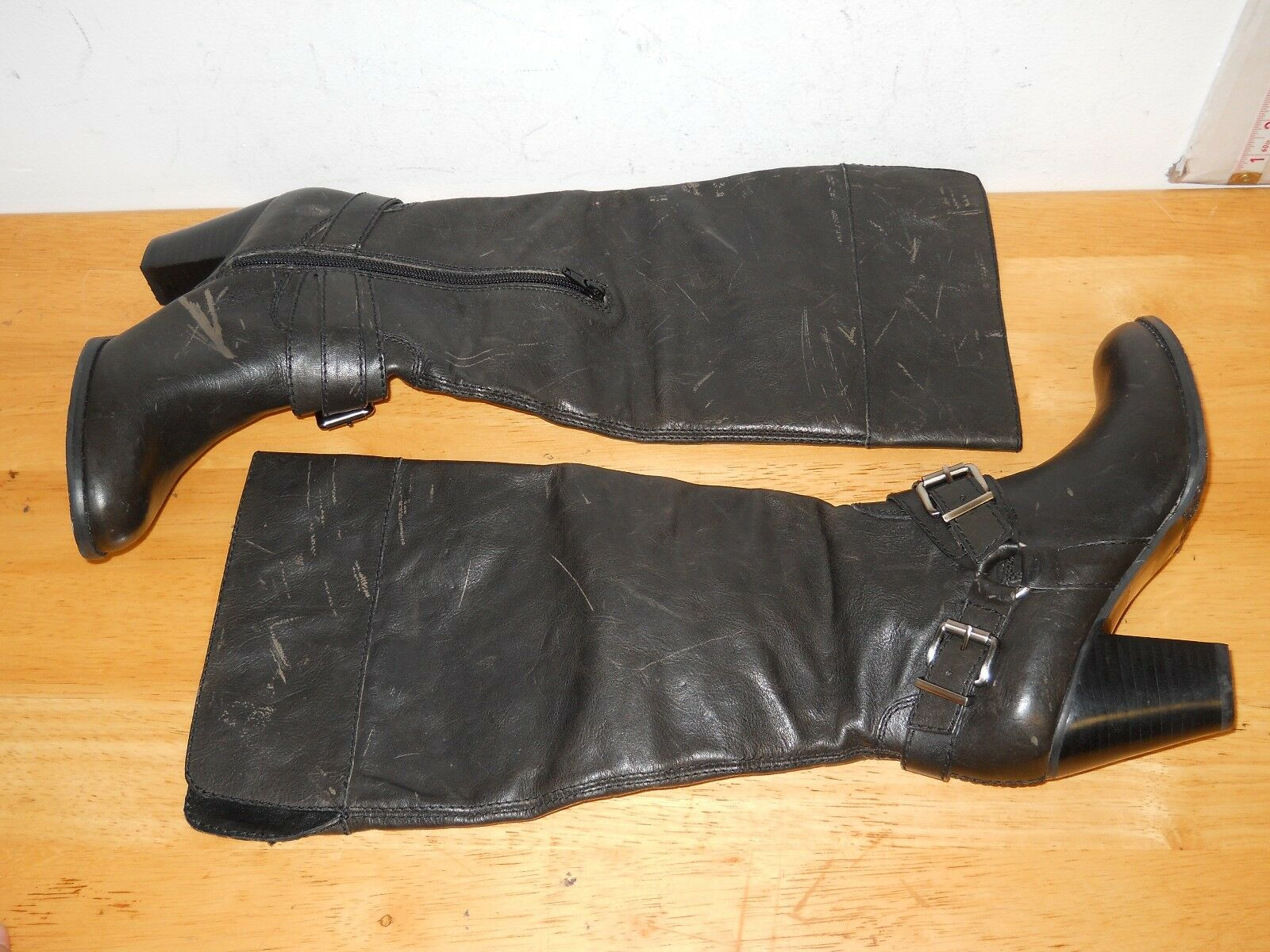 Arturo Chiang NEU Damenschuhe Vala Distressed Charcoal Leder Stiefel 6.5 M Schuhes
