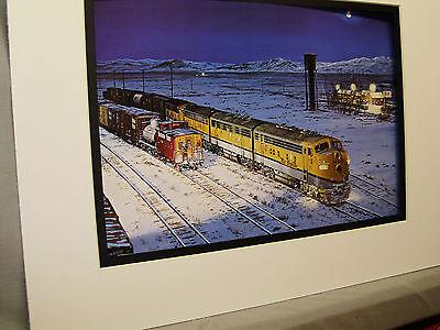 Rio Grande Diesel  Mina Nevada simply stunning scene Color Railroad Archives 0B
