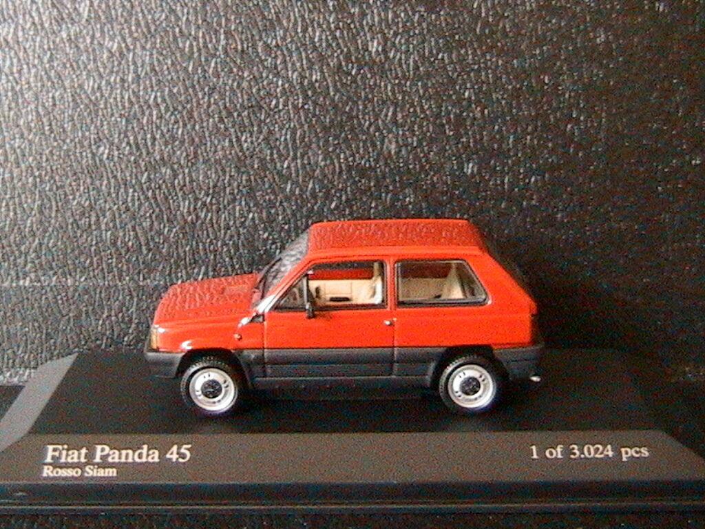 FIAT PANDA 45 1980 rouge SIAM MINICHAMPS 400121401 1 1 1 43 rouge rouge ROUGE LHD LEFT a95267