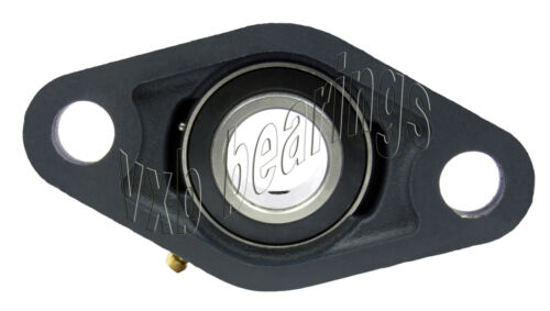 """3 1//2/"""" Inch Bearing UCFL-218-56 2 Bolts Flanged Housing Mounted 17014"""