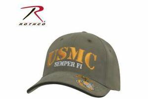US Army Baseball Cap Usmc Semper Fid Globe & Anchor Embroiderd Marine Vietnam