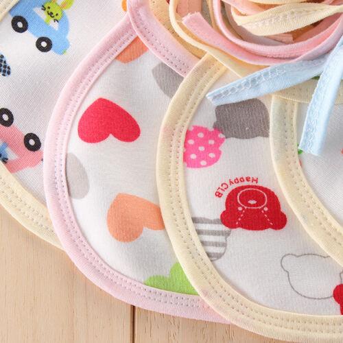 10pcs Niedlich Baby Lätzchen Set Halstuch Paket Folie wasserundurchlässig NEU
