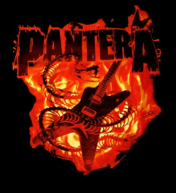 PANTERA cd lgo SNAKE GUITAR IN FLAMES Official SHIRT XXL 2X New dimebag darrell