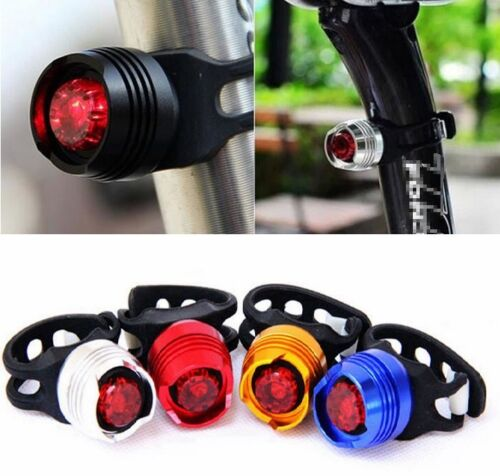 Bike Bicycle Cycling Led Light Front Rear Tail Helmet Safety Flash Warning Light