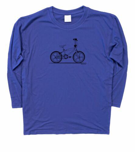 Mens Raleigh Burner Retro BMX Long Sleeve T-Shirt S 3XL
