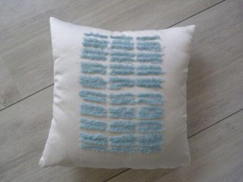 Dekokissen Kissen Kissenhülle Sigrid natur-hellblau passend für vieles 35x35cm