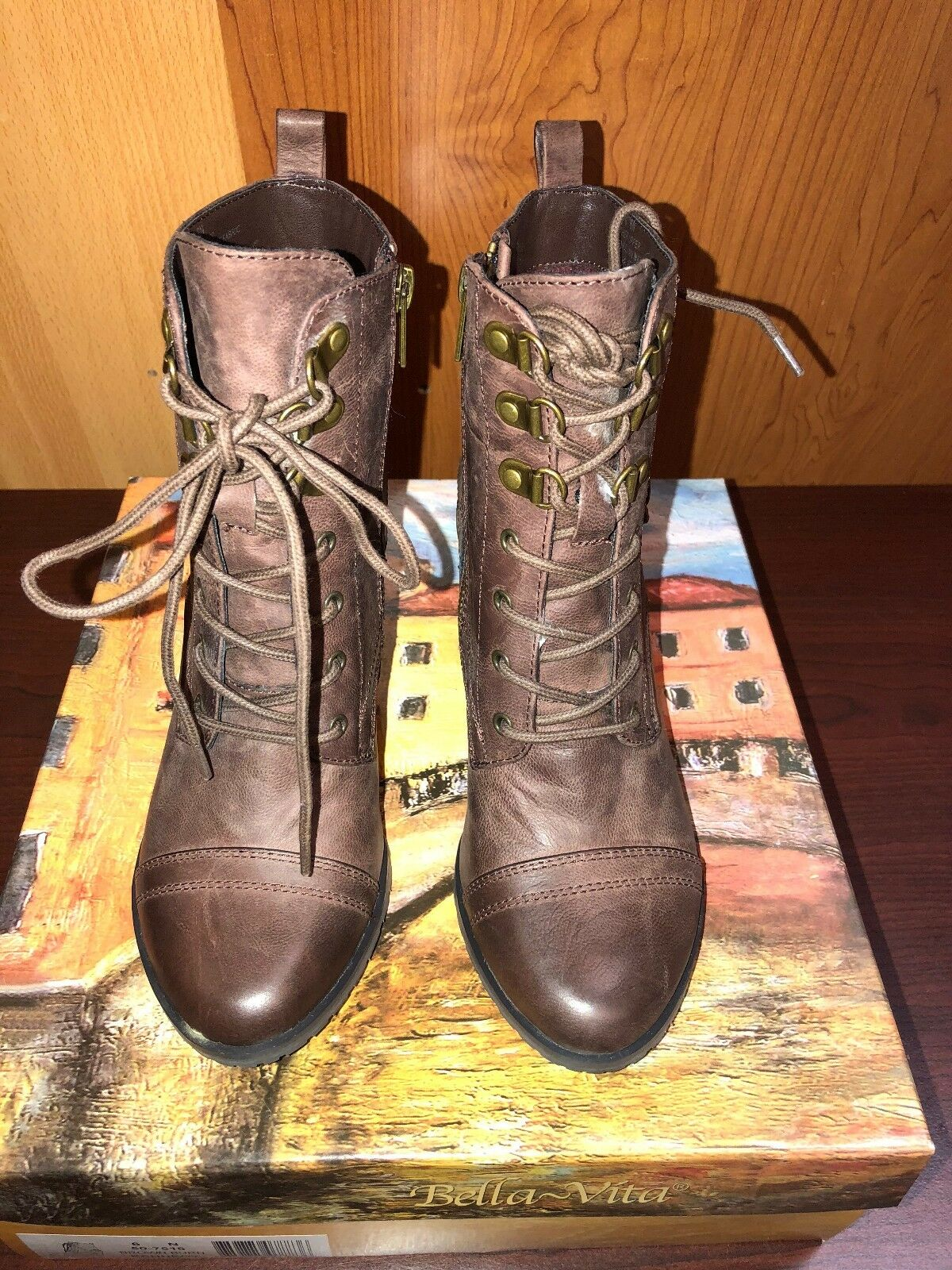 Bella Vita Kennedy boots for woman in (Brunt brown ) color style