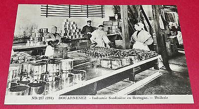 Cpa Photo Imprimee Nd Neurdein Douarnenez Huilerie Industrie Sardiniere Breizh
