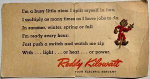 Vintage 1949 Reddy Kilowatt Electric Company Ad Character Pin Free Shipping