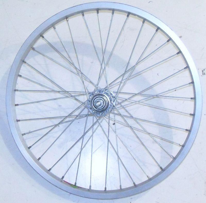 """BLACK//SILVER 26/"""" FRONT ALUMINUM BICYCLE BIKE RIM//HUB RMR340"""