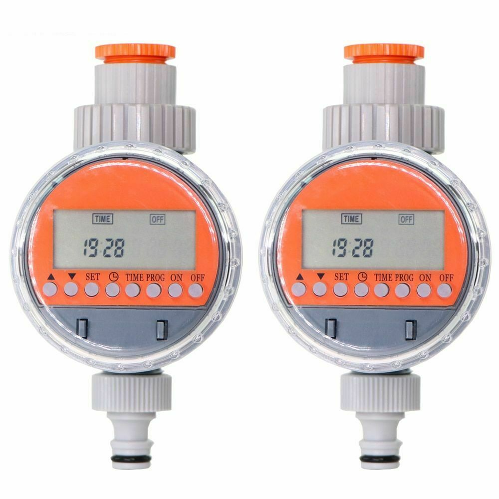 Automatic Display Ball Valve Water Timer Electronic Watering Irrigation Garden