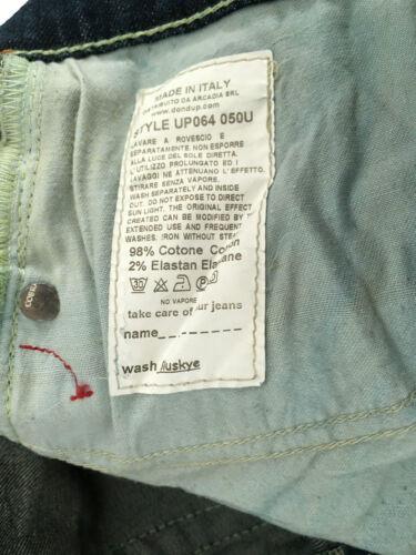 DONDUP jeans uomo mod GUN scuro con rotture 98/%cotone 2/% elastan MADE IN ITALY