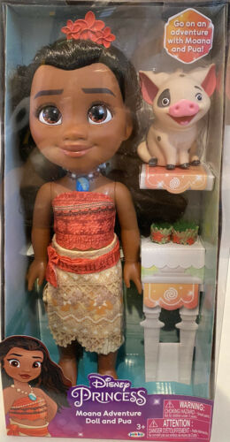 Disney Princess Moana Adventure Doll And Pua By Jakks