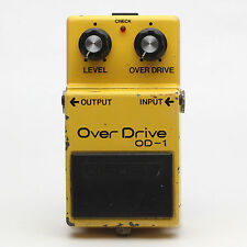 BOSS OD-1 Over Drive Silver Screw Guitar Effect Pedal Made in Japan ACA Spec