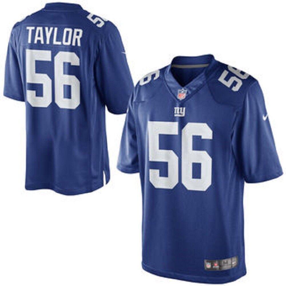 NIKE NEW YORK GIANTS LEGEND LAWRENCE TAYLOR FOOTBALL JERSEY BIG blueE 468962 417