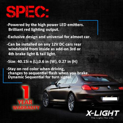 40/'/' Roofline LED Third Brake Light Kit Above Rear Windshield for Audi BMW